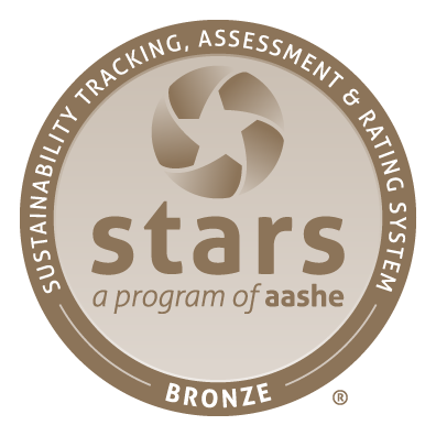 STARS (Sustainability Tracking, Assessment & Rating System) a program of aashe. Bronze